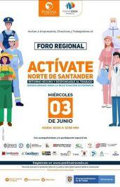 Foro regional para el retorno seguro y responsable de las actividades laborales