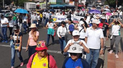 Cúcuta se unió a marcha nacional para exigir más presupuesto al gobierno nacional