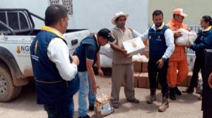 168 familias damnificadas por lluvias en Labateca y Toledo, reciben ayudas