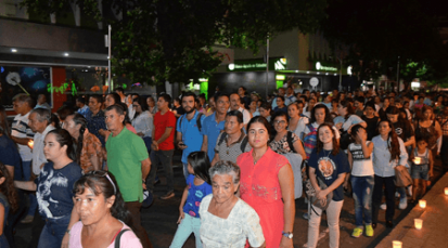 Con más de 5000 velas, la Diócesis de Cúcuta celebró las vísperas de la celebración de la Inmaculada Concepción de María