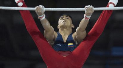 Jossimar Calvo, oro en barra fija en copa mundo de gimnasia de Hungría
