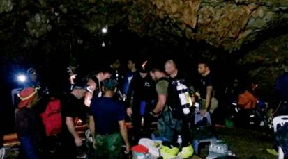 Ya fueron rescatados todos los niños y el entrenador de la cueva en Tailandia