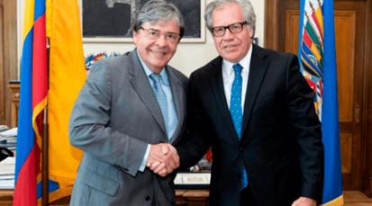 Secretario general de la OEA visita Colombia para atender el tema de crisis migratoria