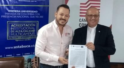 Cámara de Comercio firma convenio interinstitucional con la Universidad Santo Tomás