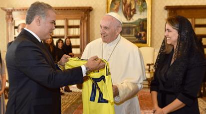 Papa Francisco recibió al presidente Duque en el Vaticano