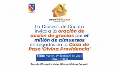 Comunicado oficial de Monseñor Víctor Manuel Ochoa Cadavid: Un millón de raciones para los venezolanos