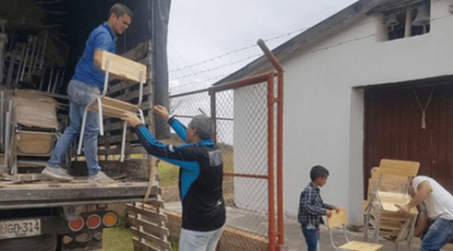 Dotación mobiliaria para escuelas de Norte de Santander