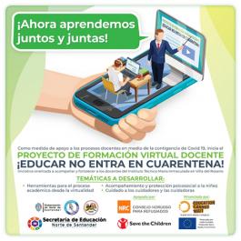 """""""Educar no entra en cuarentena"""": formación virtual docente"""