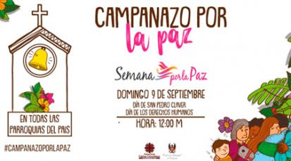 Invitación a todas las parroquias de Colombia al 'campanazo' por la paz