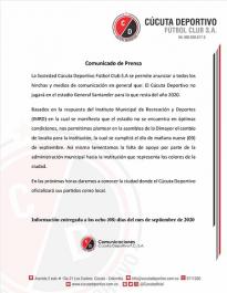 Cúcuta Deportivo en busca de cancha
